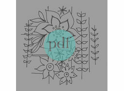 \'Stylised Retro Flowers\' PDF Embroidery Pattern