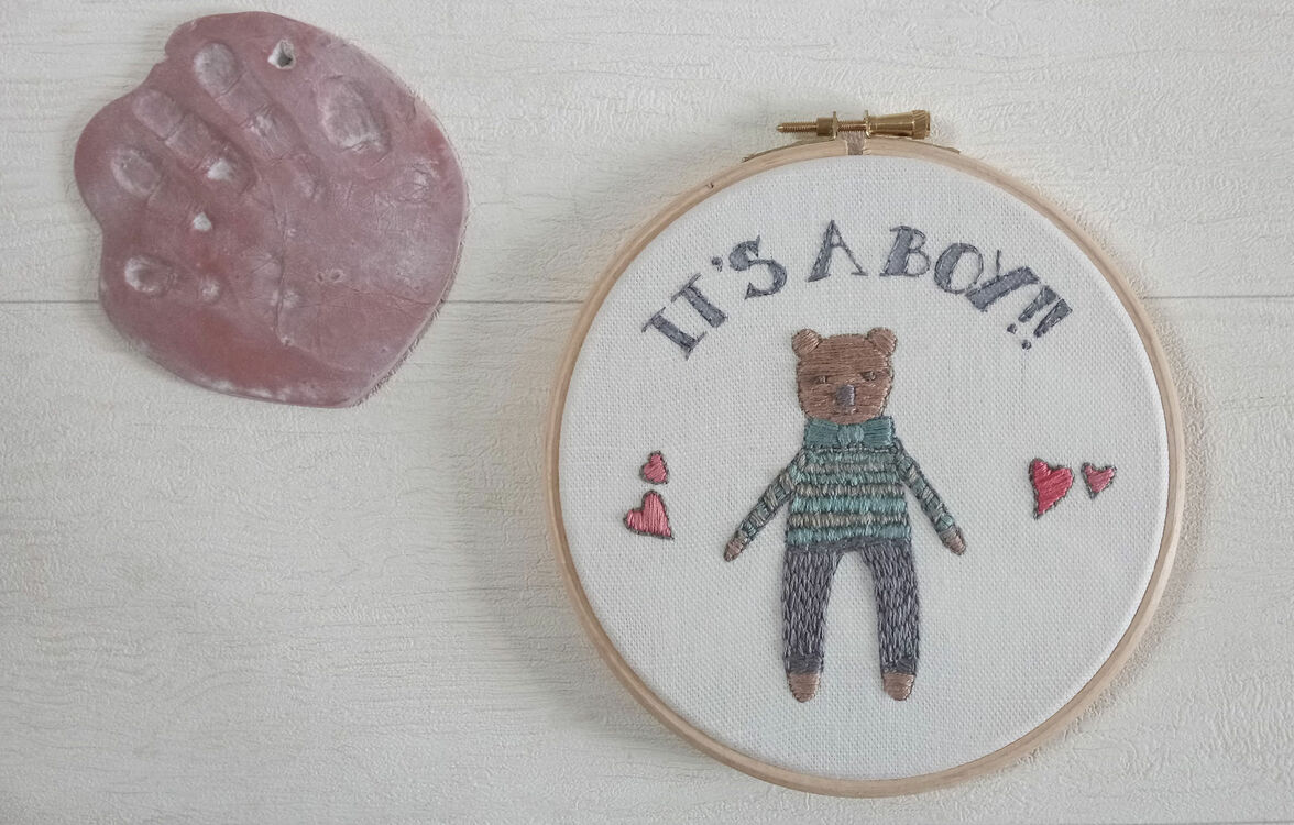 It S A Boy New Baby Hoop Art Hand Embroidery Kit Only 163