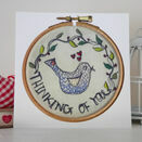 'Thinking of You' Printed Embroidery Greetings Card additional 1