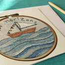 'New Horizons' Printed Embroidery Greetings Card additional 4