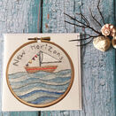 'New Horizons' Printed Embroidery Greetings Card additional 5