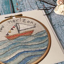'New Horizons' Printed Embroidery Greetings Card additional 1