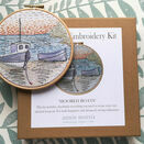 \'Moored Boats\' Hoop Art Hand Embroidery Kit additional 6