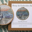 \'Moored Boats\' Hoop Art Hand Embroidery Kit additional 1