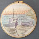 \'Moored Boats\' Hoop Art Hand Embroidery Kit additional 4
