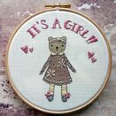 'It's a Girl!' New Baby Hoop Art Hand Embroidery Kit additional 6