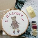 'It's a Girl!' New Baby Hoop Art Hand Embroidery Kit additional 5