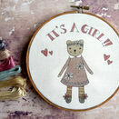 'It's a Girl!' New Baby Hoop Art Hand Embroidery Kit additional 1