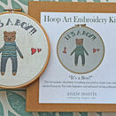 \'It\'s a Boy!\' New Baby Hoop Art Hand Embroidery Kit additional 1