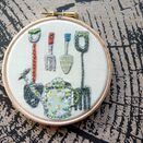 'Garden Tools' Embroidery Hoop Art additional 1