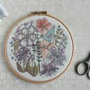 'Birdsong' Floral Embroidered Hoop Art additional 1