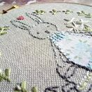 'Bunny Flower Girl' Embroidered Hoop Art additional 2