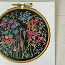 Summer Meadow Printed Embroidery Greetings Card additional 3