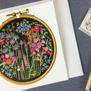 Summer Meadow Printed Embroidery Greetings Card additional 1