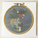 Fine Art Printed Embroidery Greetings Card additional 1