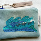 Embroidered Waves Handmade Purse additional 3