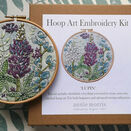 'Lupin' Floral Hoop Art Hand Embroidery Kit additional 1