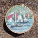 'Dartmouth Sail Boats' Linen Panel Embroidery Pattern additional 2