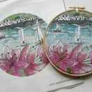 'Salcombe Regatta' Hoop Art Hand Embroidery Kit additional 3