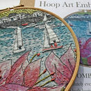 \'Salcombe Regatta\' Hoop Art Hand Embroidery Kit additional 8