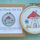 *NEW* Mini Hoop Art Hand Embroidery Kit - Fairy House additional 1