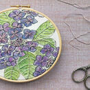 Hydrangea Linen Panel Embroidery Pattern additional 2