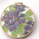 Hydrangea Linen Panel Embroidery Pattern additional 3
