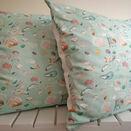 Teal Printed Sea Shell Cushion additional 1