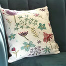*NEW*  Contemporary Floral Linen Embroidery Pattern - for cushion front - additional 1