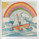 \'I am not Afraid of Storms\' Rainbow Linen Embroidery pattern - charity fund raiser - additional 6
