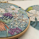 *NEW* Cosmos Hand Embroidery Pattern, Linen Panel additional 4