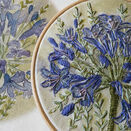 Agapanthus Hand Embroidery Pattern, Linen Panel additional 4