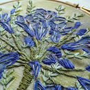 Agapanthus Hand Embroidery Pattern, Linen Panel additional 7