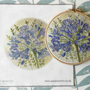 Agapanthus Hand Embroidery Pattern, Linen Panel additional 1