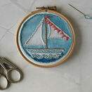 *NEW* Little Boat Mini Hoop Art Hand Embroidery Kit additional 2