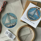 *NEW* Little Boat Mini Hoop Art Hand Embroidery Kit additional 3