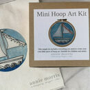 *NEW* Little Boat Mini Hoop Art Hand Embroidery Kit additional 1
