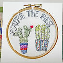 'You're the Best' Printed Embroidery Greetings Card additional 2