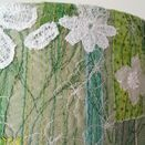 Green & White Floral Embroidered Lampshade additional 4