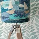 Stormy Seas Embroidered Lampshade additional 1