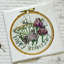 'Happy Anniversary' Printed Embroidery Greetings Card additional 1