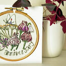 'Happy Anniversary' Printed Embroidery Greetings Card additional 2