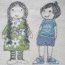 'Brother & Sister' PDF Embroidery Pattern additional 2