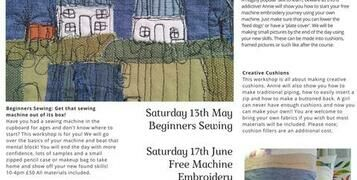 New Sewing Workshops!