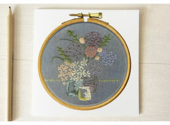 Fine Art Printed Embroidery Greetings Card