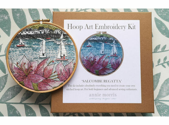 \'Salcombe Regatta\' Hoop Art Hand Embroidery Kit