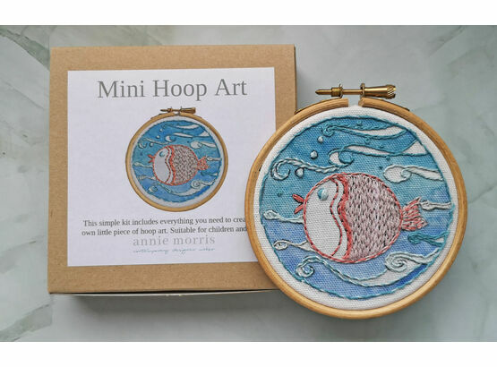 *NEW*  Mini Hoop Art Kit - Puffa fish