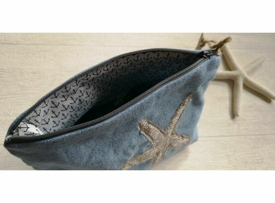 Starfish Denim Cosmetic bag