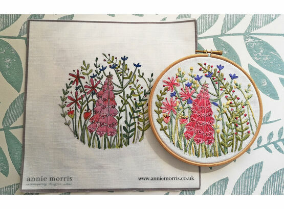 *NEW* Foxglove Linen Embroidery Pattern