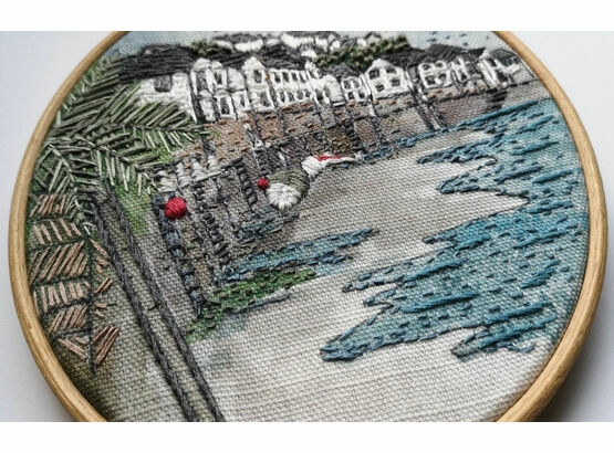 Estuary View Printed Embroidery Pattern